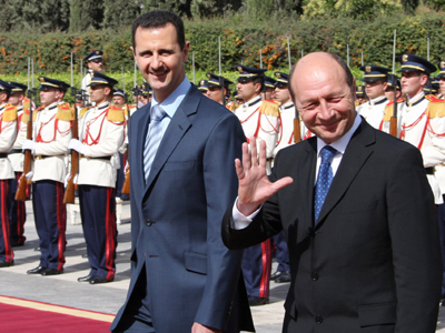 SYRIA-ROMANIA-DIPLOMACY-ASSAD-BASESCU