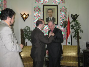Decoration Ceremony of Mr. Saadala Agaa, minister of turism of R.A.Syria