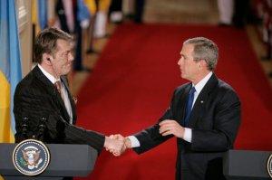 Bush and Yushchenko at the time of orange revolution