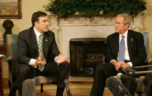 Do you remeber the time when Saakashvili meets GBush