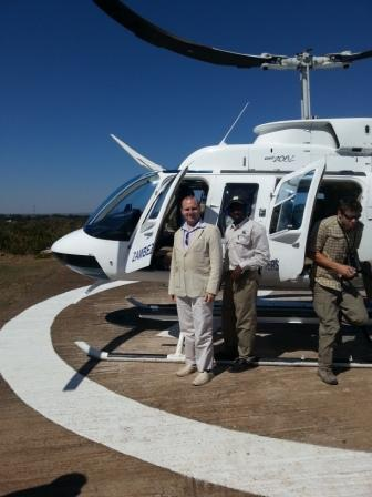 Helicopter ride over Zambezi