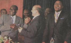 President Mugabe and President Caragea