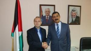 Ambassador Fuad kokaly and President Anton Caragea