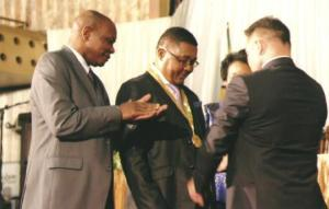 Web-Senator Ionel Agrigoroaei and Academician Walter Mzembi