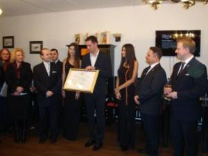 Chairman Victor Deleanu receives the diploma for DIPLOMATIC WINE FOR 2015