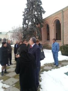 Ambassador Omer Ahmed Karim Berzinji at Dealu Monastery-Romania