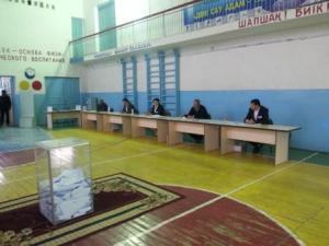 Voting in Uzbek regions