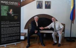 Ambassador Victor Ramon Carazo and President Anton Caragea