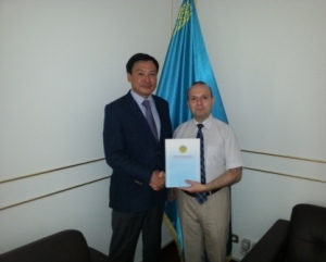 Anton Caragea-IRICE President and Ambassador Daulet Batrashev