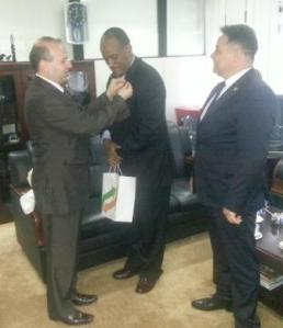 Minister of Trade is decorated by IRICE President