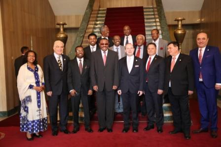 H.E. Prime Minister Hailemariam Desalegn and H.E. President Dr. Anton Caragea and Government of FDR Ethiopia