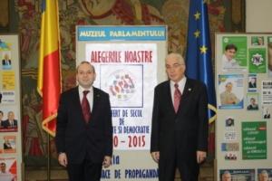 Presedinte Anton Caragea deschide Expozitia de la Palatul Parlamentului