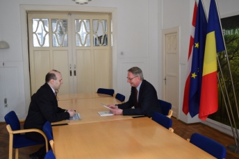 Consultari Presedinte Dr. Anton Caragea si Ambasadorul Danemarcei-Karsten Vagn Nielsen