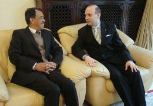 President Professor Dr. Anton Caragea and Malaysia Ambassador