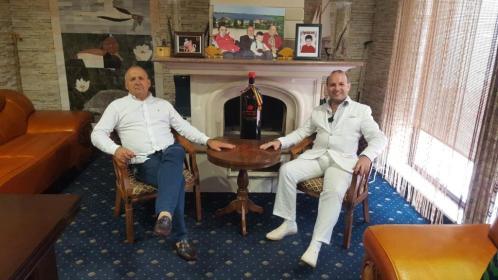 President Professor Dr. Anton Caragea and Mihai Puflene-Chairman of PUFLENE RESORT