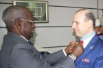 President Dr. Anton Caragea decorated by Prime minister ofDjibouti
